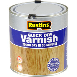 Rustins Rustins Quick Dry Varnish Satin Clear 1L - 12702 - from Toolstation