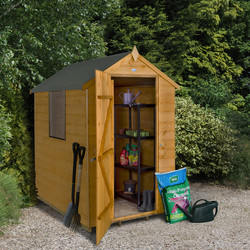 Forest Garden Shiplap Dip Treated Apex Shed 6 x 4ft