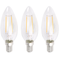 Meridian Lighting LED Filament Candle Lamp 2W SES (E14) 230lm - 12768 - from Toolstation