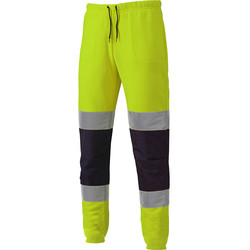 Dickies Two Tone High Vis Jogger Yellow / Navy Large