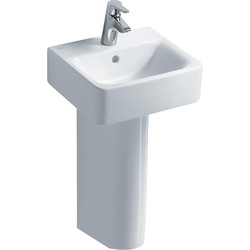 Ideal Standard Ideal Standard Senses Cube Wall Hung Basin & Pedestal  - 12802 - from Toolstation