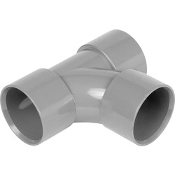 Aquaflow Solvent Weld Tee 32mm Grey - 12854 - from Toolstation