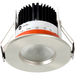 D-Lux LED D-Lux LED IP65 4.65W Fire Rated Downlight Brushed Aluminium 477lm - 12986 - from Toolstation