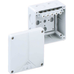 Junction Boxes IP65 With 5 Pole Terminal Block - 12997 - from Toolstation