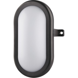 Luceco Luceco Eco LED Mini Oval Bulkhead IP54 5.5W 450lm Black - 13068 - from Toolstation