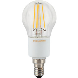 Sylvania Sylvania LED Filament Effect Dimmable Ball Lamp 4.5W SES 470lm A++ - 13070 - from Toolstation