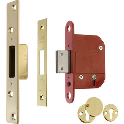 ERA ERA BS 5 Lever Fortress Deadlock Brass 64mm - 13113 - from Toolstation