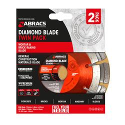 Abracs Brick Raking & General Purpose Diamond Blade Twin Pack