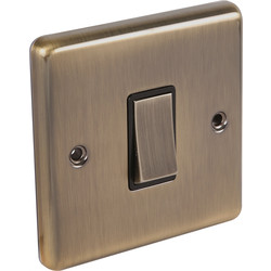 Wessex Electrical Antique Brass Switch 1 Gang Intermediate - 13192 - from Toolstation