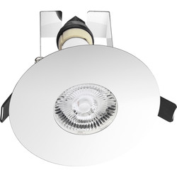 Integral LED Integral LED 70-100mm Cut Out Evofire IP65 Fire Rated Downlight Polished Chrome with Insulation Guard - 13233 - from Toolstation