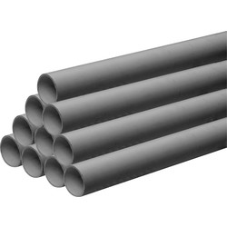 Aquaflow Solvent Weld Waste Pipe 30m 40mm x 3m Grey - 13346 - from Toolstation