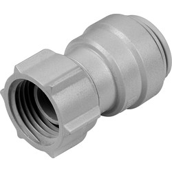 "JG Speedfit Female Tap Connector 22mm x 3/4"" BSP Grey"