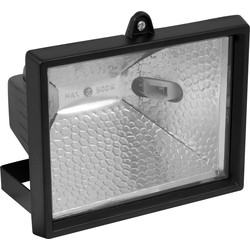 Meridian Lighting Halogen IP44 Floodlight 400W Black - 13443 - from Toolstation