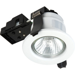 Sylvania Sylvania Fire Rated Fixed GU10 Downlight Brushed Steel - 13444 - from Toolstation
