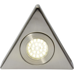 Culina Fonte 240V LED Triangle Under Cupboard Light 1 x 1.5W 140lm light - 13453 - from Toolstation
