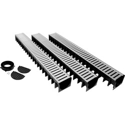 Drain Garage Pack 3m Steel Grating