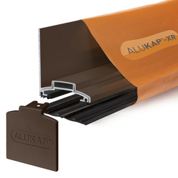Alukap Alukap-XR Concealed Fix Wall Bar with Gasket Brown 4800mm - 13657 - from Toolstation