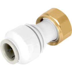 "JG Speedfit JG Speedfit Straight Tap Connector 15mm x 1/2"" BSP - 13693 - from Toolstation"