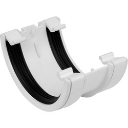 Aquaflow 112mm Half Round Union Bracket White - 13695 - from Toolstation