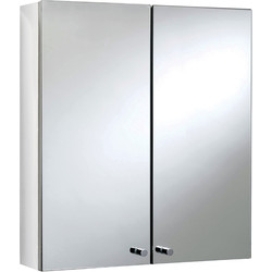 Croydex Double Door Stainless Steel Bathroom Cabinet 500 x 450 x 120mm