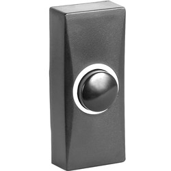 Byron Byron Wired Bell Push Black - 13734 - from Toolstation