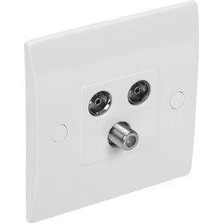Axiom Axiom Low Profile Satellite Socket TV/FM Outlet - 13771 - from Toolstation