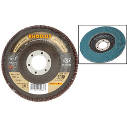Power Rhodius Zirconium Flap Disc 115 x 22.2mm 80 Grit - 13784 - from Toolstation