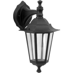 Meridian Lighting Victorian Style Hanging Lantern Black 60W ES - 13898 - from Toolstation