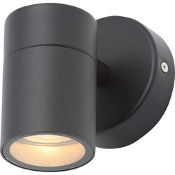 Zinc Leto Black Stainless Steel Up or Down Wall Light IP44 GU10 1 x 35W Max - 13945 - from Toolstation