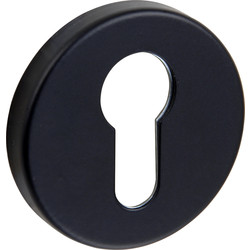 Urfic Euro Escutcheon Set Black - 14028 - from Toolstation