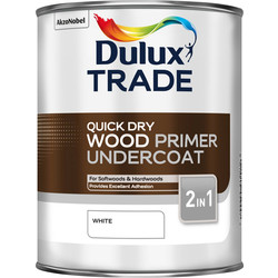 Dulux Trade Dulux Trade Quick Dry Wood Primer Undercoat Paint White 1L - 14104 - from Toolstation