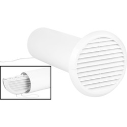 Xpelair Xpelair Simply Silent Extractor Fan Wall Kit 150mm White Round - 14111 - from Toolstation