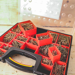 Single Thread Countersunk Pozi Screw Pack