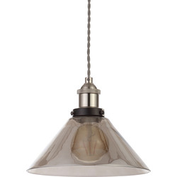 Inlight Algol Coolie Glass Shade Smoke - 14203 - from Toolstation