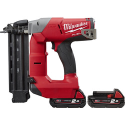 Milwaukee Milwaukee M18 CN18GS-202X 18V Li-Ion 18 Gauge Cordless Nailer 2 x 2.0Ah - 14244 - from Toolstation