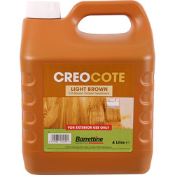 Barrettine Creocote Shed & Fence Treatment 4L Light Brown - 14250 - from Toolstation