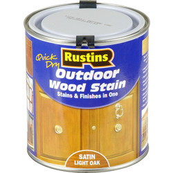 Rustins Quick Dry Outdoor Wood Stain Light Oak 500ml