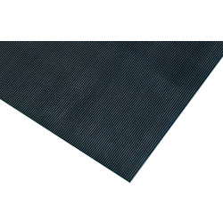 Blue Diamond Rubber Rib Anti-Slip Floor Matting 3mm x 10m x 0.9m Roll - Black - 14293 - from Toolstation