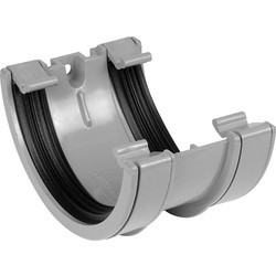 Aquaflow 112mm Half Round Union Bracket Grey - 14394 - from Toolstation