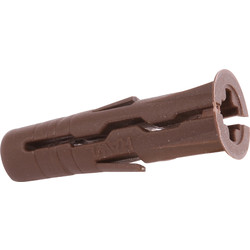 Rawlplug Rawlplug UNO Universal Contract Wall Plug Brown 7mm - 14407 - from Toolstation
