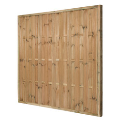 Forest Garden Pressure Treated Vertical Hit & Miss Fence Panel