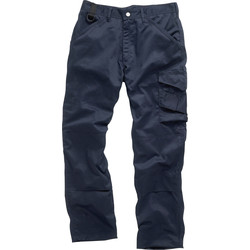 "Scruffs Worker Trousers 34"" L Navy"