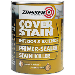 Zinsser Zinsser Cover Stain Primer Paint White 1L - 14677 - from Toolstation