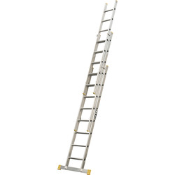 Lyte Ladders Lyte Trade Extension Ladder 3 section, Closed Length 2.42m - 14686 - from Toolstation