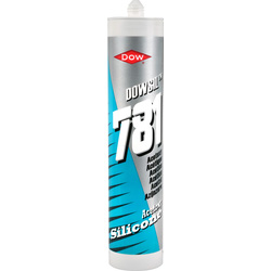 Dow DC781 Dow Corning Acetoxy Silicone 310ml White - 14690 - from Toolstation