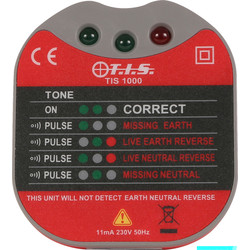 TIS TIS 1000 Socket Tester With Buzzer  - 14779 - from Toolstation