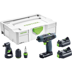 Festool Festool TXS 10.8V Li-Ion Cordless Drill 2 x 2.6Ah - 14903 - from Toolstation