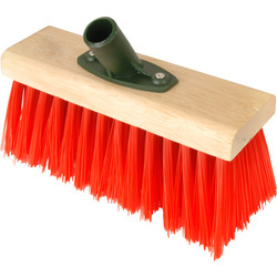 "Hill Brush Company Yard Broom Head Red PVC 10"" - 14905 - from Toolstation"