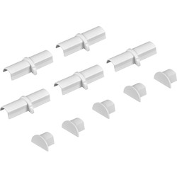 D-Line Coupler & End Cap Pack Micro+  5 x Coupler & 5 x End Pack
