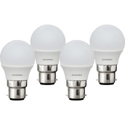 Sylvania Sylvania LED Frosted Mini Globe Lamp 5W BC (B22) 470lm - 15106 - from Toolstation